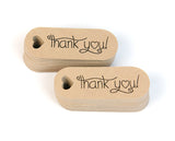 "Thank You Mini Hang Tags 0.7"" x 1.9"" 50pk"