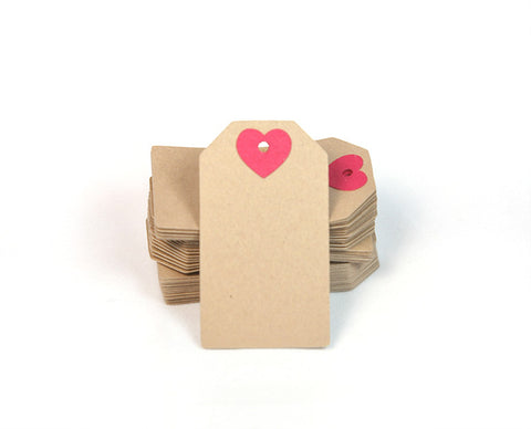 Tags With Heart - 25-pk