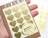 Mini Heart Stickers 90 ct. - Gold Foil