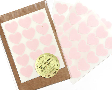 Mini Heart Stickers 90 ct. - Pastel Pink