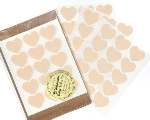 Mini Heart Stickers 90 ct. - Cream