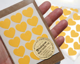Mini Heart Stickers 90 ct. - Yellow