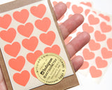Mini Heart Stickers 90 ct. - Coral