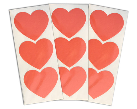 Large Heart Stickers 30 ct. - Turquoise