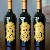 "Wine Bottle Table Number Labels - 2.5"" x 5"""