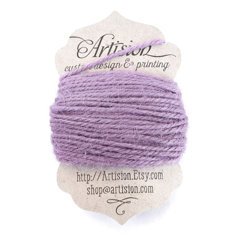 Purple Jute twine 10 yards