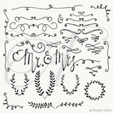 Wedding Elements Clip Art +Vector Graphic