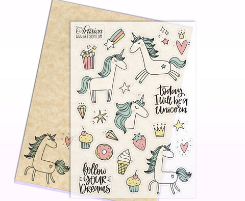 Unicorn Stickers III