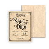 Aged Save the Date Cards