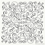 Floral Swirls Illustration