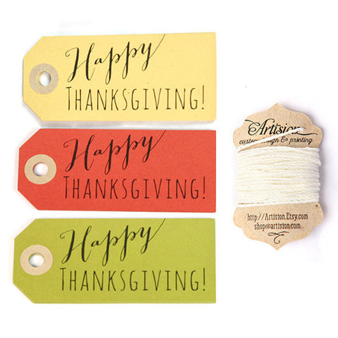 Happy Thanksgiving Gift Tags 12-pk