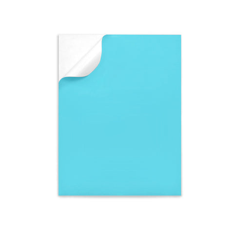 "TURQUOISE Color label sheets 8.5"" x 11"""
