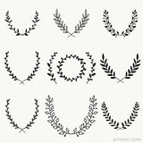 Wreaths Vector Art (Laurel)
