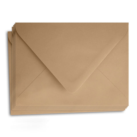 Kraft Paper Envelopes - A1 (3 5/8 x 5 1/8) Euro Pointed Flap