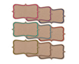 Rustic Bracket Shape Cards - Brown Kraft - 20pk