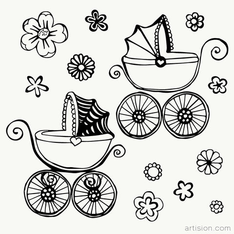 Baby Carriage Clipart Graphic