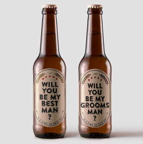 Will you be my Best Man or Groomsman Labels 6-pk
