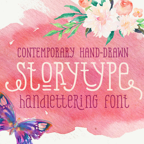 StoryType hand drawn font type