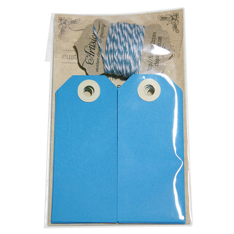 Handmade Blue Gift Tags 12-pack
