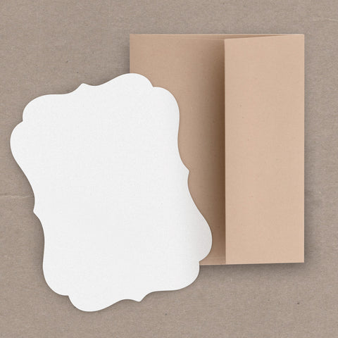 Bracket Shape Cards and Envelopes 10-pk