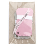 "Note Cards 2"" x 3.5"" Pink, Gray 30-pk"