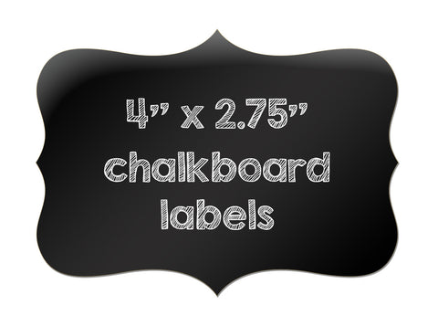 "Large Chalkboard Labels - 4"" x 2.75"""