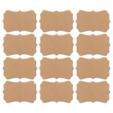 Kraft Stickers Bracket Shape 60-pk