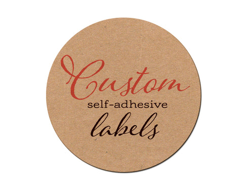 Custom Printed Round Labels 60-pk