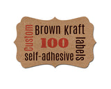 Bracket Shape Custom Labels 100-pk