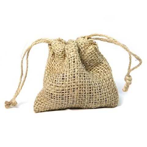 "Natural Burlap Bag 4"" x 4"" 24-pk"