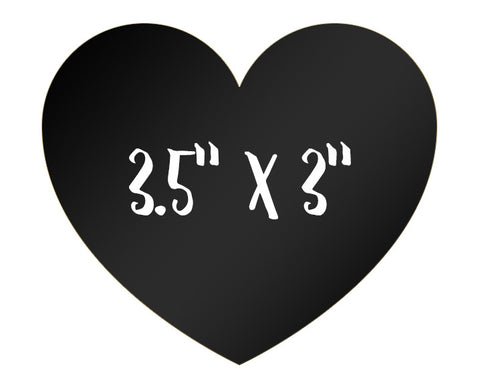 "Chalkboard Labels 3.5"" x 3"" Heart Shape 12-pk"