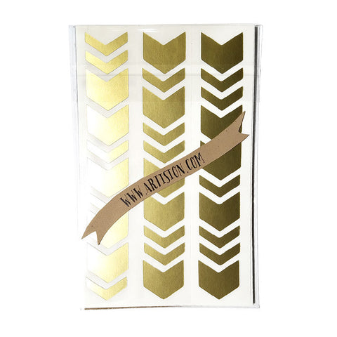 Chevron Geometric Stickers - Gold