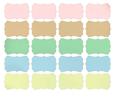 Pastel Color Sticker Labels 60-pk