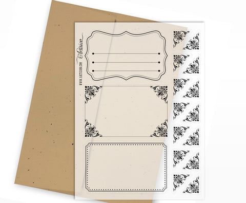 Clear Planner Stickers - Frames & Corners