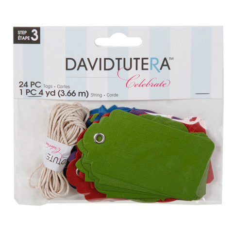 David Tutera Celebrate Color Tags 24-pk