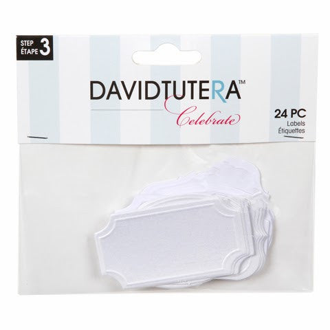 David Tutera Celebrate White Labels 24-pk