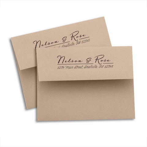 Return Address Kraft Envelopes