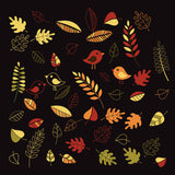 Fall leaves clip art - vector file