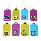 Paper Flower Gift Tags 17-pk