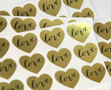 Small Heart LOVE Stickers 25-pk