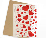 Clear Planner Stickers - Red Hearts