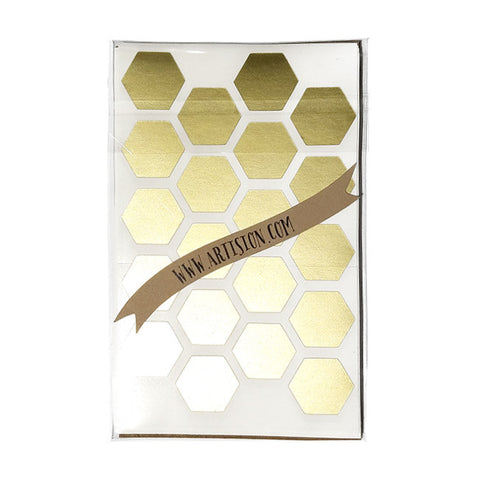 Hexagon Geometric Stickers - Gold 40-pk
