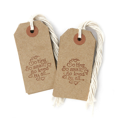 Baby Shower Tags w/ String  12-pk