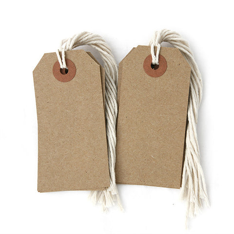 Kraft Tags With String - 12 pack