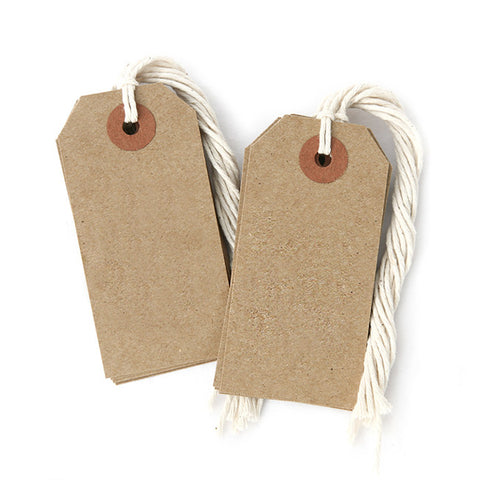 Kraft Tags With String