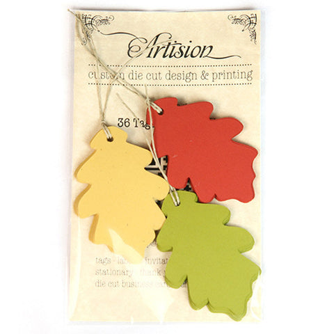 Oak Leaf Shape Gift Tags 90-pk