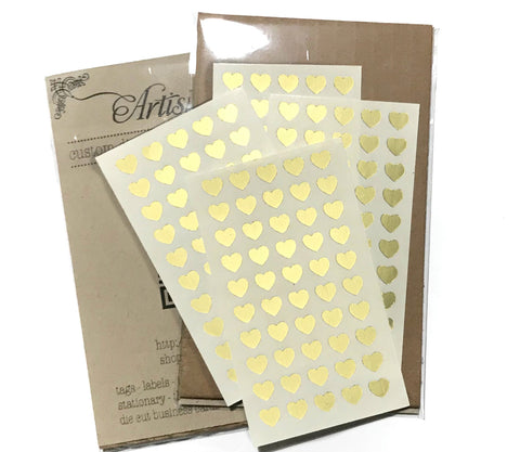 Mini Heart Stickers - Tiny Hearts - 100 ct