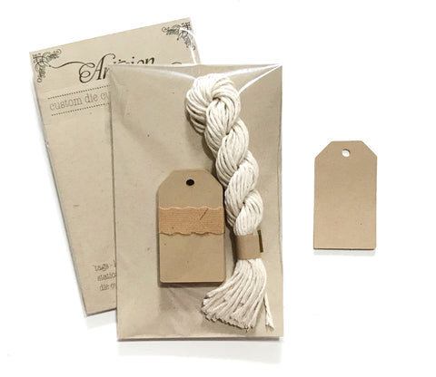 Mini Kraft Tags with String - 25ct