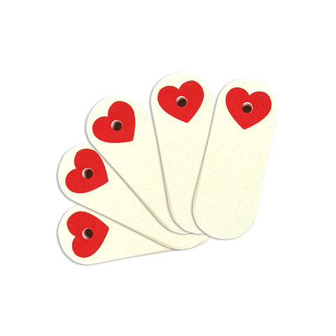 Mini Tags with Heart Reinforcement Rings 12-pk