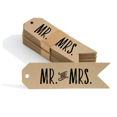 Mr. & Mrs. Gift Tags 50-pk
